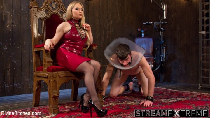 Divinebitches.com – Aiden Starr Corrects A Very Bad Dog Aiden Starr & Artemis Faux 2015 Gag