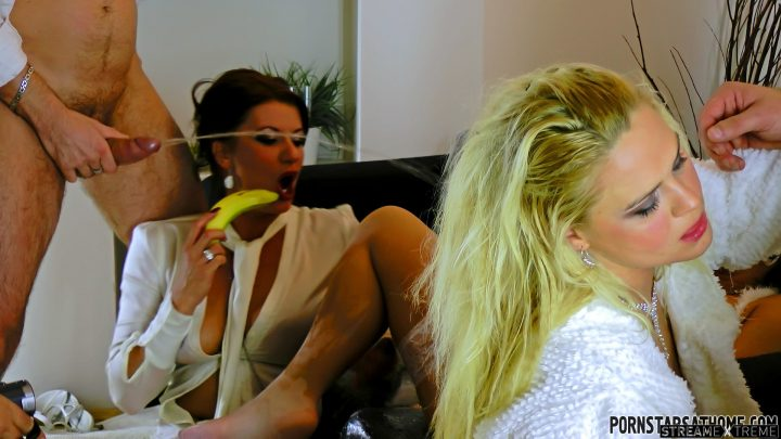 Pornstarsathome.com – Shiny White Piss Freaks In Heat Celine Noiret & Bibi Fox & Barra Brass 2012 Group Sex