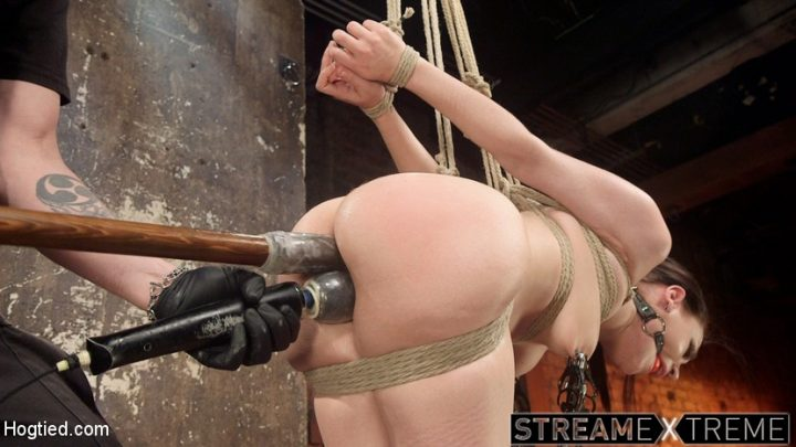 Hogtied.com – Petite Bondage Slut Gets her.. Gabriella Paltrova & The Pope 2016 Domination