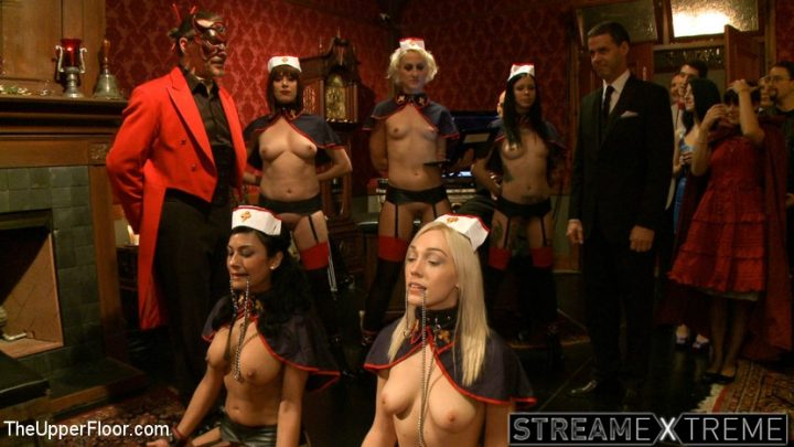 Theupperfloor.com – House Celebration: Welcome Back.. Derrick Pierce & Lily LaBeau & Odile 2012 Clover Clamps