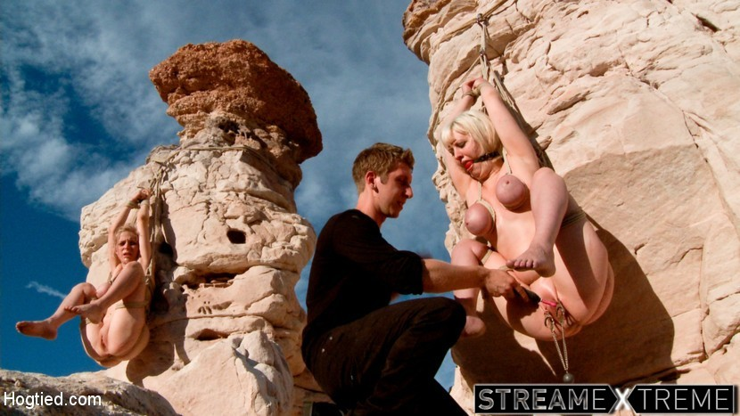 Hogtied.com – FEATURE SHOOT : WET ROCK CANYON Danny Wylde & Penny Pax & Cherry Torn 2012 Bdsm