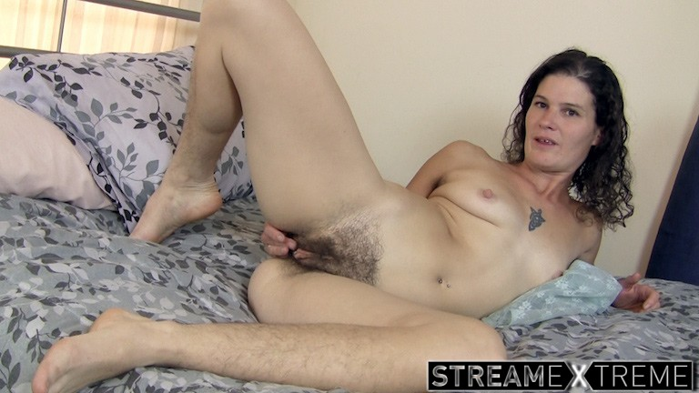 Wearehairy.com – Sunshine strips on bed and.. Sunshine 2014 Brunettes